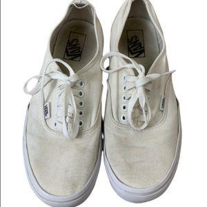 "Vans Shoes - VANS Authentic ""Off the Wall"" White Lace Ups"